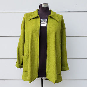 Itemz Chris Baumgartner Chartreuse Zip-Up Jacket